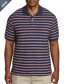 Harbor Bay® Bi-Color Stripe Polo-New & Improved Fit