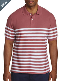 Harbor Bay® Placed Stripe Polo-New & Improved Fit
