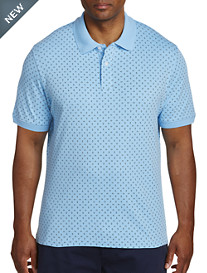 Harbor Bay® Multi Diamond Printed Polo-New & Improved Fit