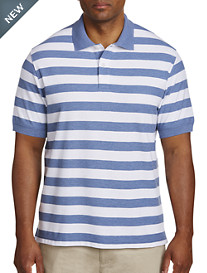 Harbor Bay® Large Stripe Polo-New & Improved Fit