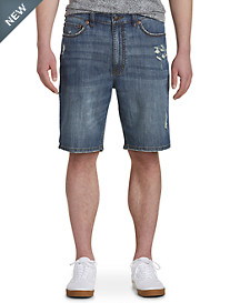 True Nation® Deakin Blue Athletic-Fit Denim Shorts
