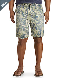 True Nation® Tropical Leaf Stretch Shorts