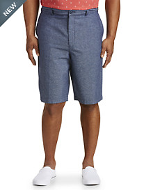 True Nation® Stripe Linen-Blend Shorts
