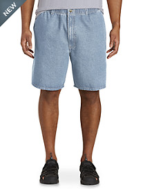 Harbor Bay® Elastic-Waist Denim Shorts-- New and Improved Fit