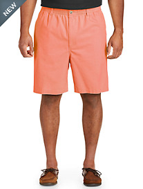 Harbor Bay® Elastic-Waist Twill Shorts-Updated Fit