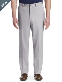 Oak Hill® Waist-Relaxer® Flat-Front Microfiber Pants- New & Improved Fit