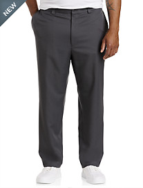 Oak Hill® Grid-Pattern Flat-Front Microfiber Shorts