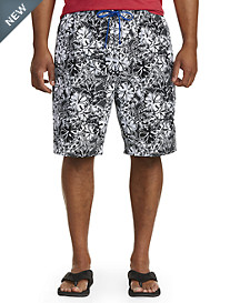Island Passport® Graphic Floral Swim Trunks