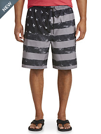 Island Passport® Americana Stars and Stripes Swim Trunks