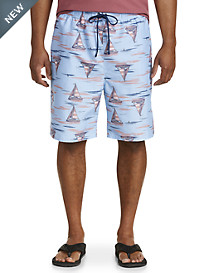 Island Passport® Sailboats and Sharks Swim Trunks