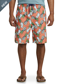 Island Passport® Cocktails and Pineapples Swim Trunks