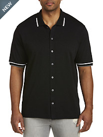 Tipped Button-Front Polo