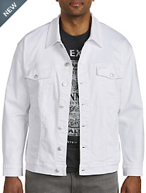True Nation® White Stretch Denim Jacket