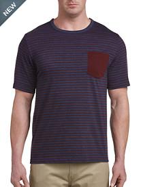 Harbor Bay® Stripe Contrast Pocket Tee