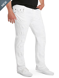 MVP Collections White Destructed Jeans