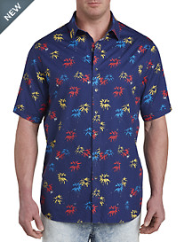 Palm Tree Print Sport Shirt