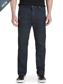 True Nation Tapered Modern Moto Jeans