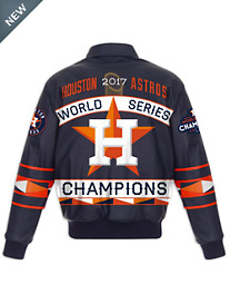 MLB 2017 World Series Leather Championship Jacket