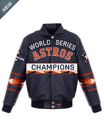 MLB 2017 World Series Leather Championship Jacket