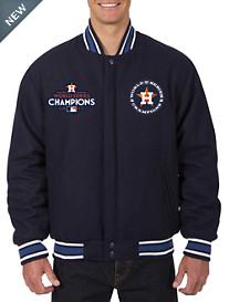 MLB 2017 World Series Reversible Wool Varsity Jacket