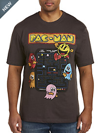 Vintage Pac-Man Game Board Graphic Tee
