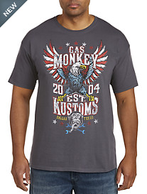Gas Monkey Bald Eagle Graphic Tee