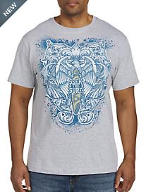 Seek Surf Tribal Heraldic Graphic Tee