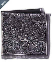 Rochester Plaid Paisley Multi Silk Pocket Square