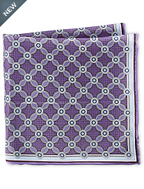 Rochester Medallion Floral Silk Pocket Square