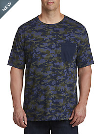 Harbor Bay® Contrast Camo Pocket Tee – New & Improved Fit