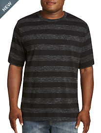 Harbor Bay Space-Dyed Stripe No-Pocket Tee