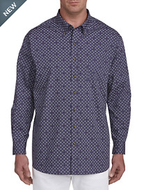 Harbor Bay Easy-Care Pinwheel Pattern Sport Shirt