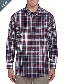 Harbor Bay Easy-Care Long-Sleeve Plaid Sport Shirt