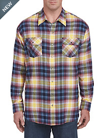 Harbor Bay Tartan Plaid Flannel Shirt