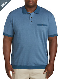 Harbor Bay Jacquard Dot Banded Bottom Shirt