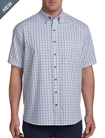 Harbor Bay Easy-Care Small Plaid Sport Shirt