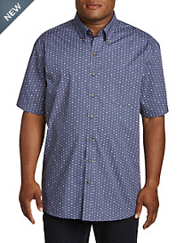 Harbor Bay Easy-Care Circle Print Sport Shirt