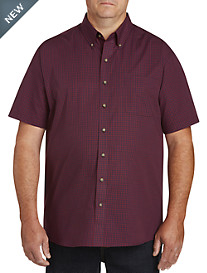 Harbor Bay Easy-Care Gingham Sport Shirt