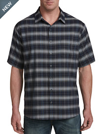 Harbor Bay Medium Plaid Microfiber Sport Shirt