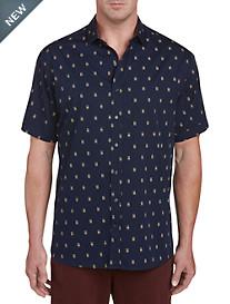 Twenty-Eight Degrees Owl Print Sport Shirt