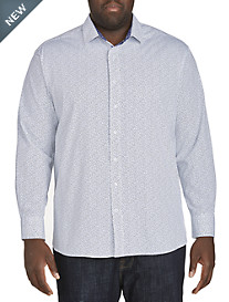 Twenty-Eight Degrees Leaf Print Sport Shirt