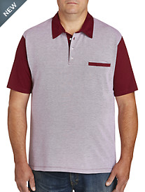 Harbor Bay Contrast Oxford Polo