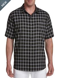 Synrgy Microfiber Glen Plaid Sport Shirt
