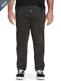 True Nation Tapered Stretch Acid Wash Jeans