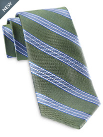 Rochester Designed in Italy Textured Stripe Silk Tie