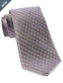 Rochester Designed in Italy Spiral Dot Silk Tie