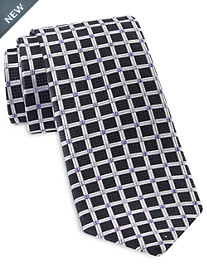 Rochester Designed in Italy Diamond Textured Geo Silk Tie