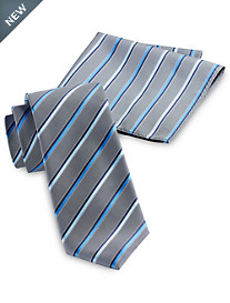 Synrgy™ Bright Pop Stripe Tie with Pocket Square