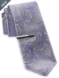 Gold Series Ombré Paisley Tie with Tie Bar