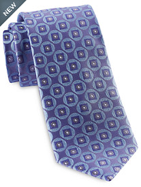 Rochester Designed in Italy Circle Textured Medallion Silk Tie